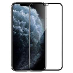 Heltäckande härdat glas på för iphone 11 pro For iPhone XR Black