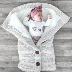 Varm vinter sömnsäck barnvagn - sovande filt Light Gray