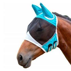 Avtagbar mask för häst med nässkydd, hästfluga, green M