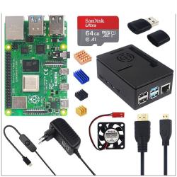 Strömförsörjning + 64 GB SD-kort + kylfläns valfritt 8GB RAM with Fan