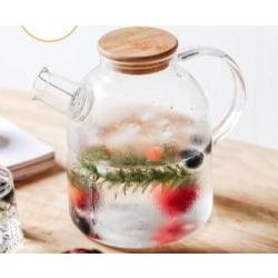 Stort transparent borsilikatglas 1.5L