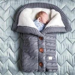 Varm vinter sömnsäck barnvagn - sovande filt Gray