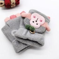 Vinter varma fitness handskar tecknad apa barn baby spädbarn Gray