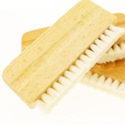 Antistatisk rengöringsborste för gethår i trähandtag