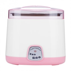 Automatisk liten yoghurtmaskin, inre av rostfritt stål Pink