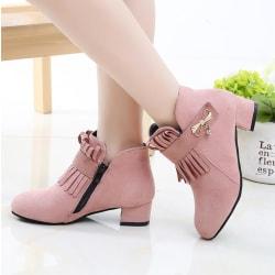 Mode läderskor för - höga klackar Pink 30