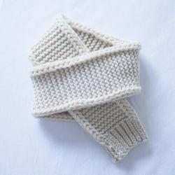 Baby halsduk flicka vinter varmare barn ull stickade halsdukar Ivory white 120cm-140cmSize fits all