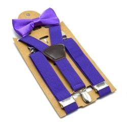 Barn elastisk rosett knut set, baby boy party bröllop Purple 65x2.5cmRubber String
