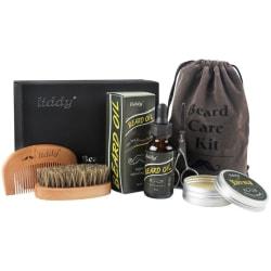 Premium skägg grooming kit helt naturligt skägg olja vildsvin