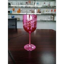 Plast akrylbägare fest fest drinkware vinglas Pink 401-500ml