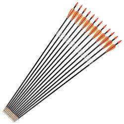 Fiberglaspilrygg 700 för recurve / lång båge orange 12pcs