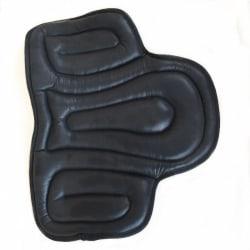 Halkfritt pu-läder, sittdyna sadelplatta - ridutrustning Black