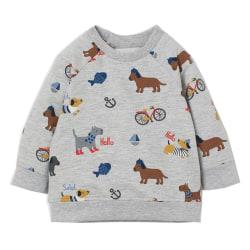 Kidsalon pojkar huvtröjor djurmönster höst vinter outwear 6