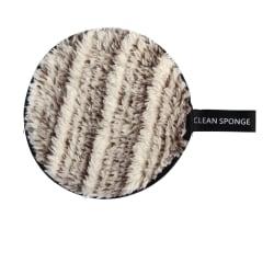 Makeup avlägsnande svamp flutter tvätt rengöring bomull - Brown white