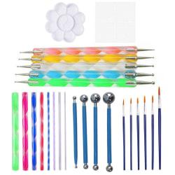 Måla prickverktygsset, med prickstänger kulpenna penna