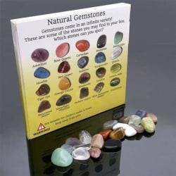 Naturlig kristall ädelsten polerad läkning chakra sten As picture