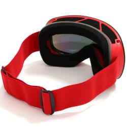 Snowboard skyddsglasögon skydd snowboard glasögon Red