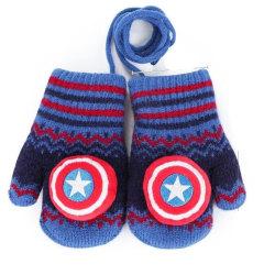 Spiderman's höst vinter plus sammet varma handskar 3-6 years oldC