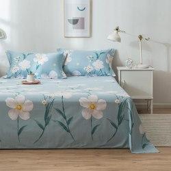 Tryckning bomullslakan, flera storlekar madrass sängkläder Model 3 2xPillowcase48x74cmFlat Sheet
