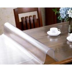 Vattentätt pvc-bordsskydd 90x90cmFrosted pattern