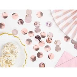 Konfetti Cirklar - Roséguld Rosa guld