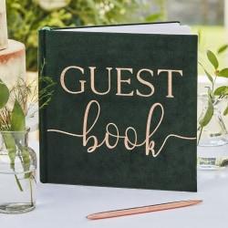 Gästbok Grön sammet - Botanical Wedding