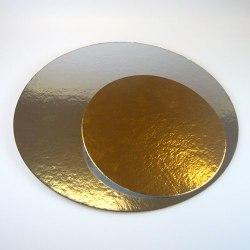 FunCakes Tårtbricka Guld och Silver, 3-pack, 35 cm, Rund silver