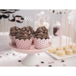Cupcake Wrappers Rosa Prickiga Muffinsformar 6-Pack