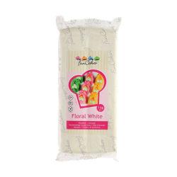 Marsipan, Floral White, Vit 1 kg - FunCakes vit