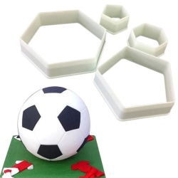 Fotboll Hexagon Utstickare 4st