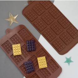 Mini-chokladkaka 12 Bitar Silikonform Chokladform Brun
