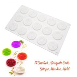 15 Tourbillon Spiral Silikonform Mousseform Chokladform