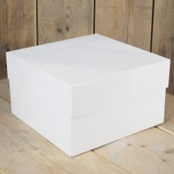 Tårtkartong Vit 30 x 30 x 15cm - FunCakes