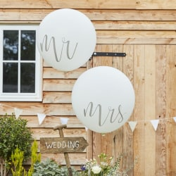 Mr & Mrs Jätteballinger Vita Bröllop flerfärgad