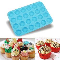 Muffinsform 24st Minimuffins Muffinsplåt Bakform Silikon -