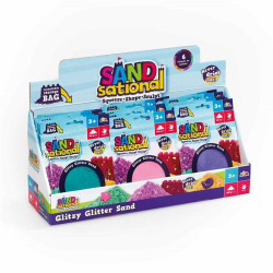 Blå Sational Glitter Sand- Mjuk Leksand 100g  multifärg