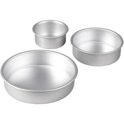 Bakformar Våningstårta Tre Runda - Wilton silver