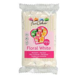 FunCakes Marsipan Floral White 250g, Extra Vit vit