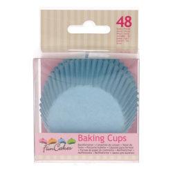 Muffinsformar Ljusblå 48st- Funcakes Ljusblå