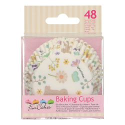 FunCakes Muffinsformar Vårtema 48st Vit
