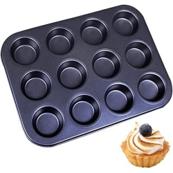 Muffinsplåt 12st Mini Muffins Bakform Bakplåt Silver