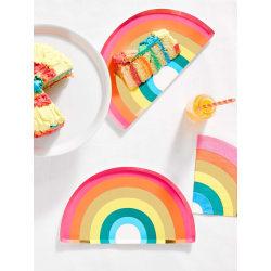Papperstallrikar Regnbåge Rainbow Party 12-Pack multifärg