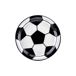 Papptallrikar Fotboll - Football Feast Svart