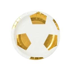 Papptallrikar Fotboll Guld - Party Champions Guld