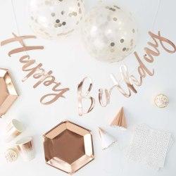 Party In A Box - Kalaslåda för Fest 16 personer Rosa guld