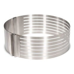 Patisse Adjustable Cake Slicer S/S Ø24-30cm Tårtring  Silver