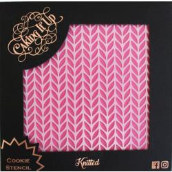 Caking It Up Knitted - Tårtstencil Scahblon Stickat Mönster by K Vit