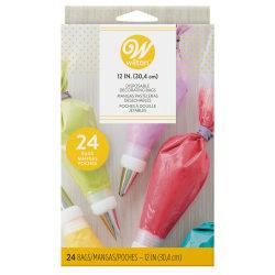 Wilton Spritspåsar 24pack multifärg