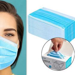 100-pack CE-godkänd Munskydd/Ansiktsmask med 3 lager