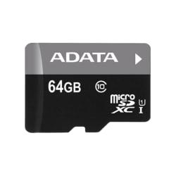 ADATA 64GB MicroSD w/adapter R:50MB/s W:10MB/s